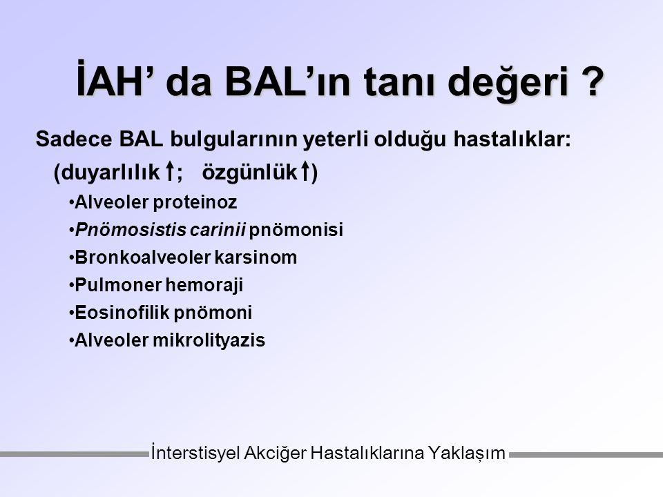 İAH' da BAL'ın tanı değeri .