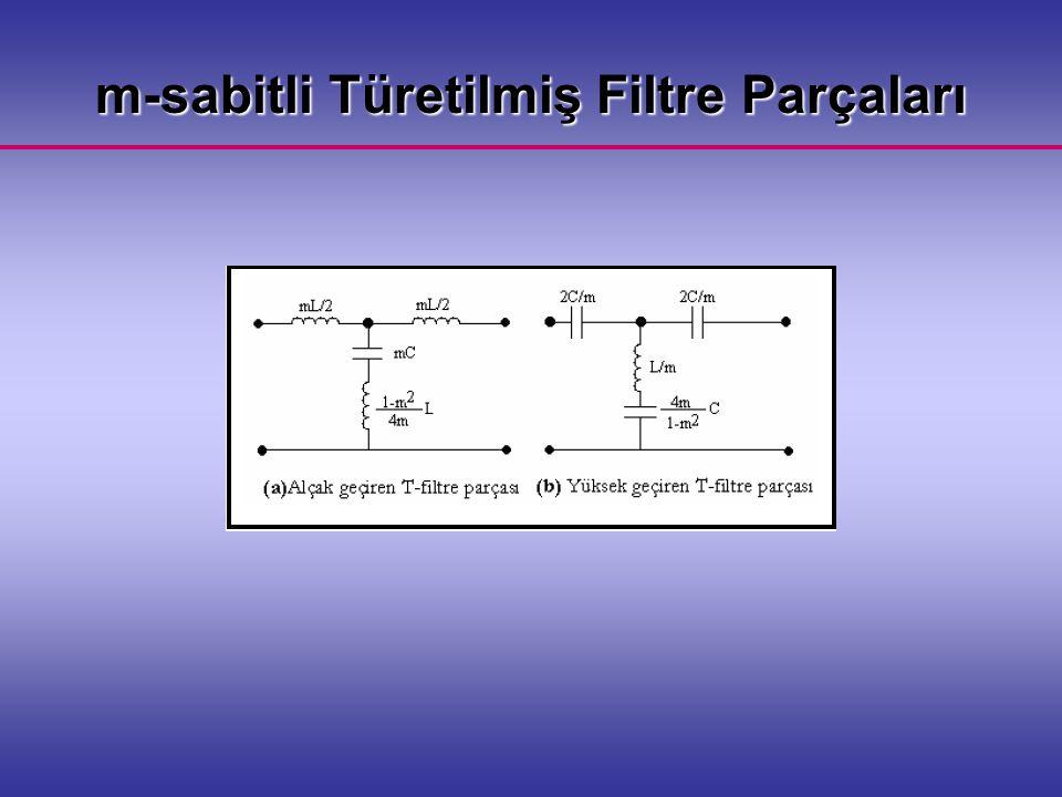 m-sabitli Türetilmiş Filtre Parçaları