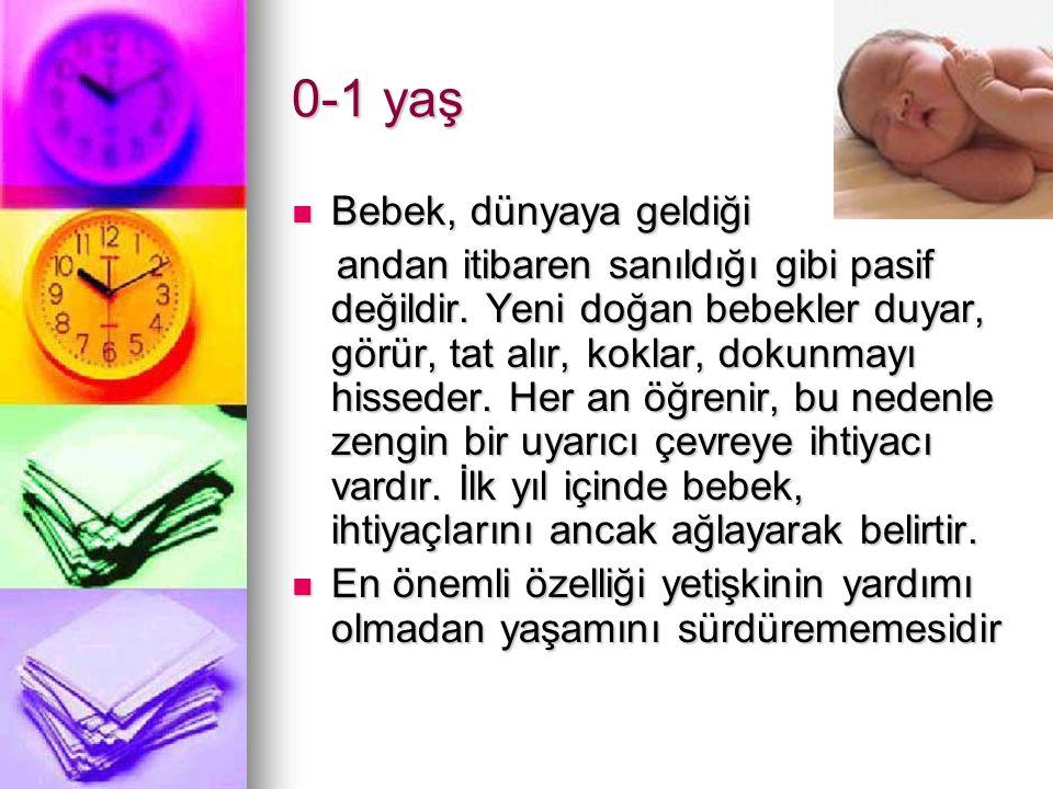 0-1 yaş Bebek, dünyaya geldiği Bebek, dünyaya geldiği andan itibaren sanıldığı gibi pasif değildir.
