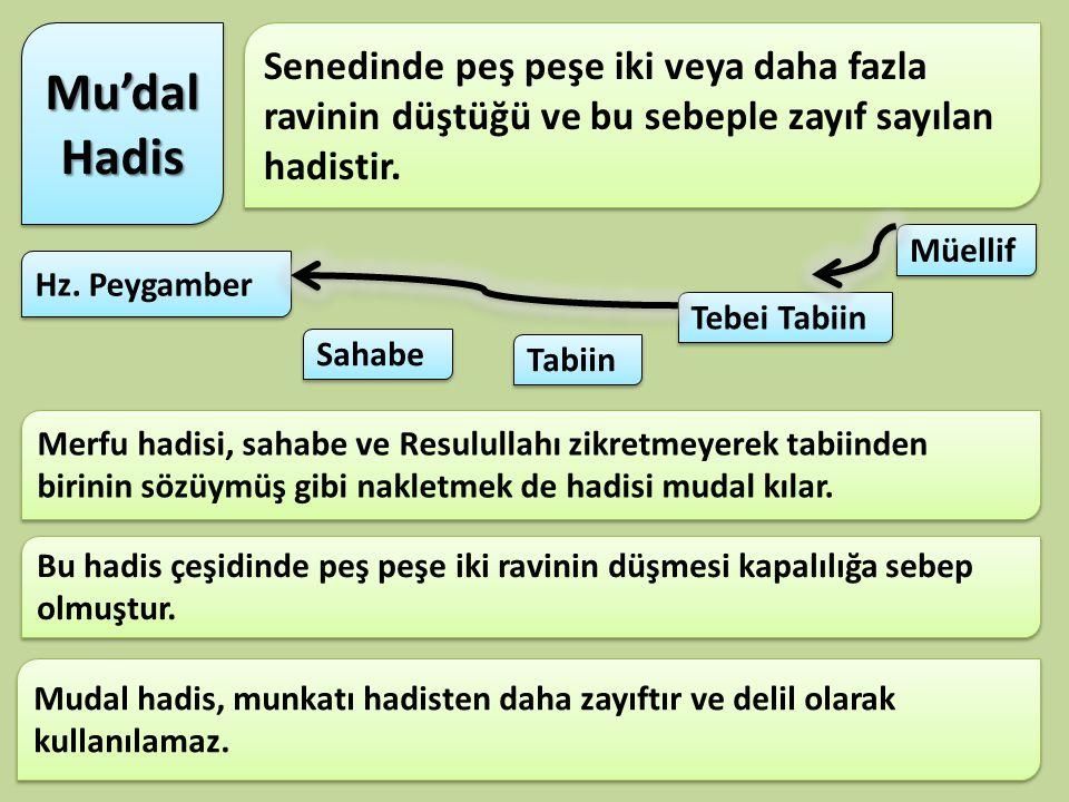 «Sufyan-ı Sevri'den, o Ebu İshak'dan, o Zeyd b. Yusey'den, o da Huzeyfe'den rivayet etmiştir k. Huzeyfe demiştir ki Hz. Peygagamber şöyle buyurdu. 'Hi