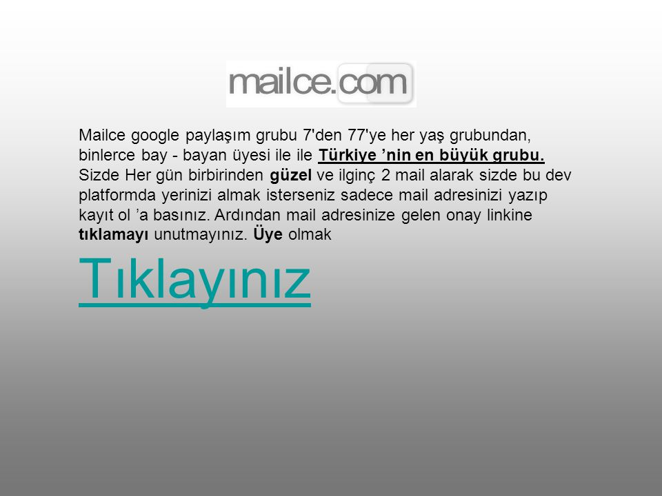 This email needs to circulate forever... Bu e-posta umarım sonsuza kadar dolaşır…