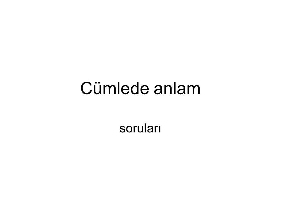 Aşağıdaki cümlelerin hangisinde küçültme adı kullanılmıştır.
