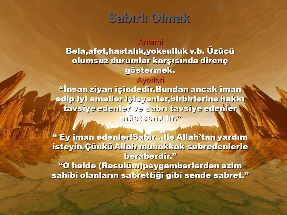 Anlami Allah'a duyulan minneti dile getirmek.