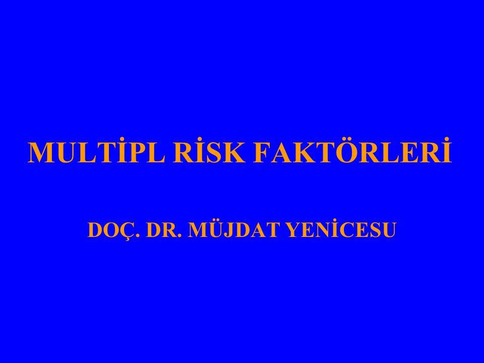 HİPERTANSİF OLGULARDA RİSK FAKTÖRLERİ VE HEDEF ORGAN HASTALIĞINA GÖRE RİSK GRUPLAMASI (JNC, 6; Arch Intern Med 1997; 157: 2413) A Risk Grubu –KAH risk faktörü ve hedef organ tutulumu yok B Risk Grubu –DM hariç, en az bir risk faktörü –Hedef organ hasarı yok C Risk Grubu –Hedef organ tutulumu ve/veya DM var –Risk faktörleri var veya yok