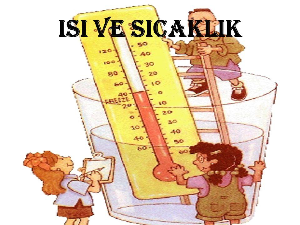 ISI: Bir buz kalıbını güneş ışınlarının geldiği yere koyduğumuzda eridiği, yazın elektrik tellerinin sarktığı, yeterince ısı alan suyun kaynadığı, kışın ise bazı yerlerde suların donduğu görülür.