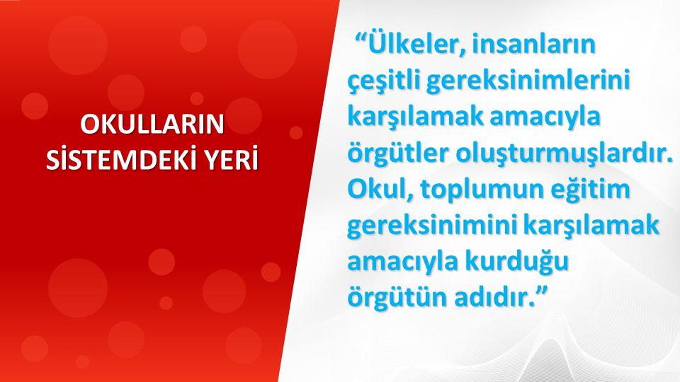 İş hayatı için temel bilgi birikimi hazırlanmasını sağlar. Türk Eğitim Sisteminde Okulların Yeri
