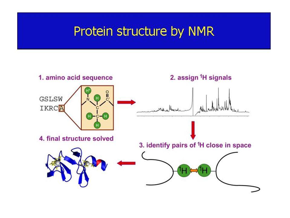 NMR Spektroskopisi Kimyasal olarak indüklenmiş dinamik nuklear polarizasyon (CIDNP): Proteinlerin gerçek zamanlı katlanmalarıyla yapılarındaki değişimleri takip etmeyi sağlayan bir NMR yöntemidir.