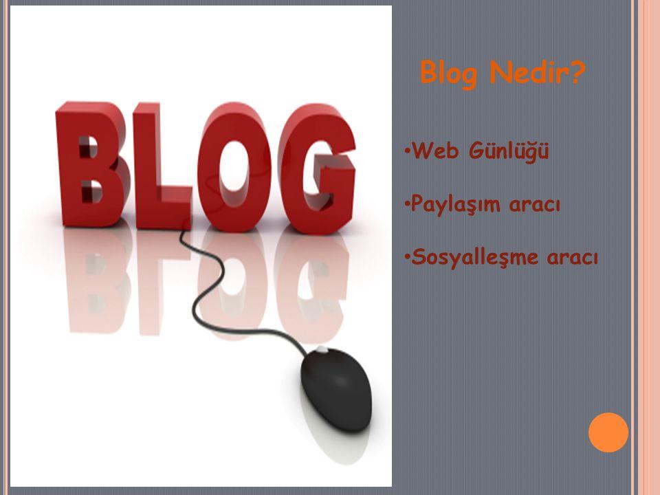 Blog Nedir Web Günlüğü Paylaşım aracı Sosyalleşme aracı