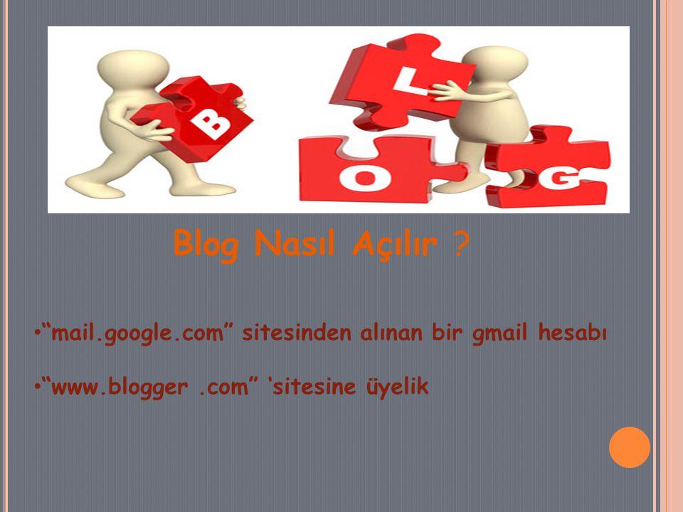 Blog Nasıl Açılır .