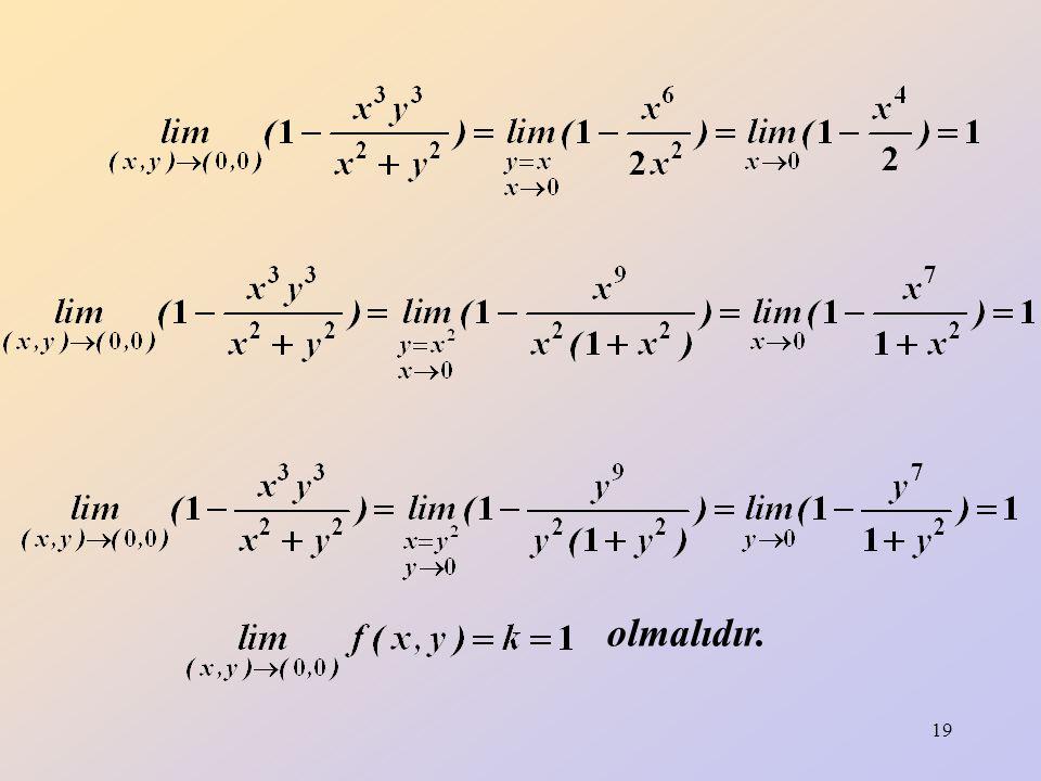 20 y = 2x doğrusu hem payı hem de paydayı sağladığı için fonksiyon y = 2x için tanımsızdır.