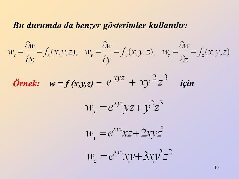 41 HARMONİK FONKSİYON: türevleri sürekli ve fonksiyonuna harmonik fonksiyon denir.