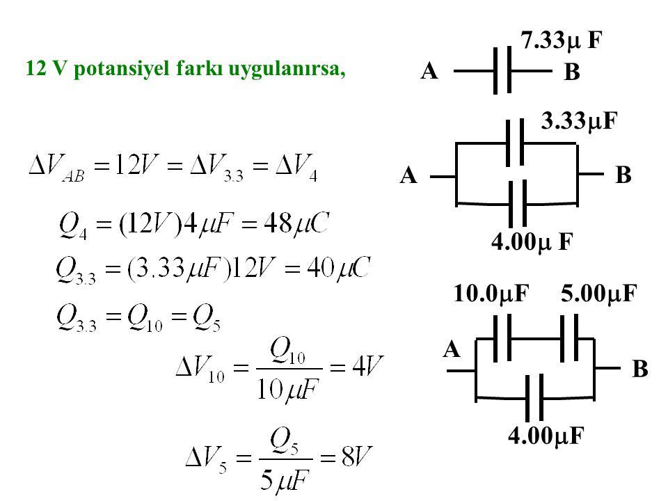 Örnek AB 10.0  F5.00  F 4.00  F AB 3.33  F 4.00  F A B 7.33  F