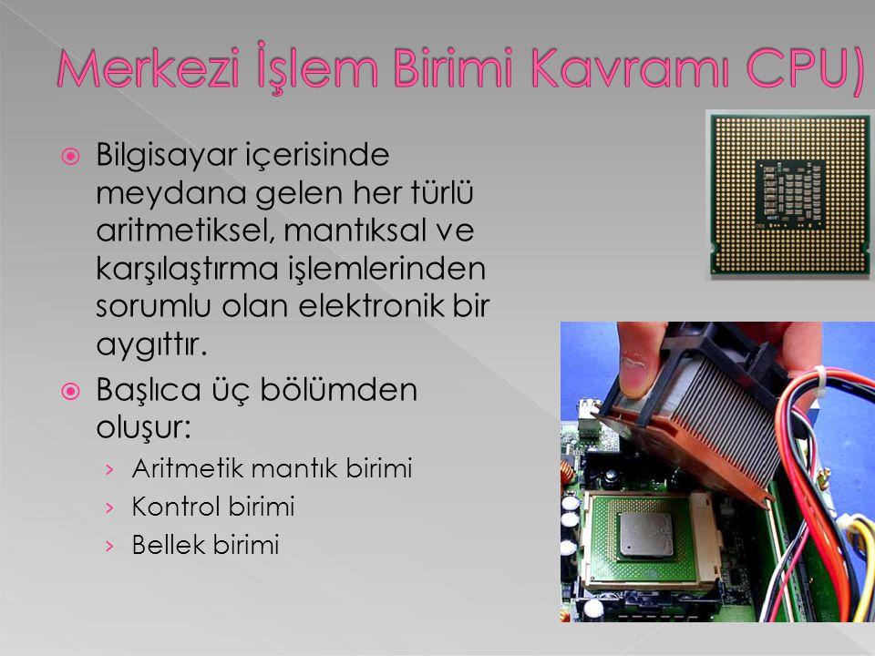  Monitörler iki tiptedir.CRT ve daha modern olan LCD monitörler.