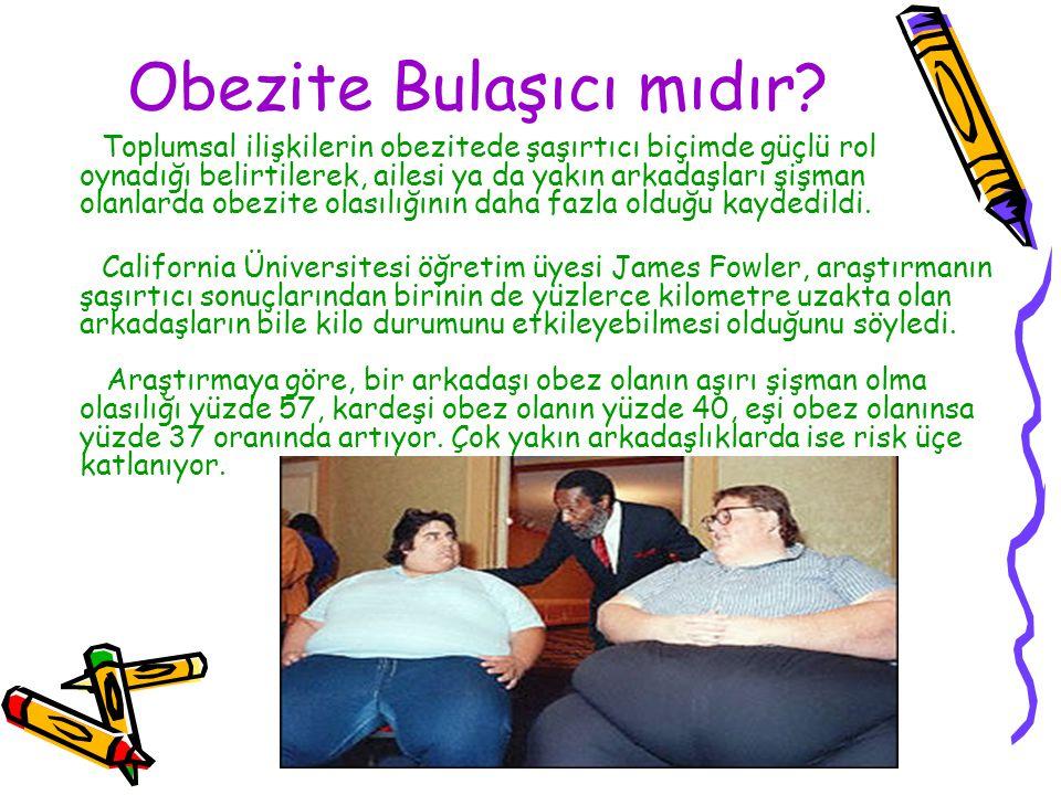 Obezite Bulaşıcı mıdır? Toplumsal ilişkilerin obezitede şaşırtıcı biçimde güçlü rol oynadığı belirtilerek, ailesi ya da yakın arkadaşları şişman olanl