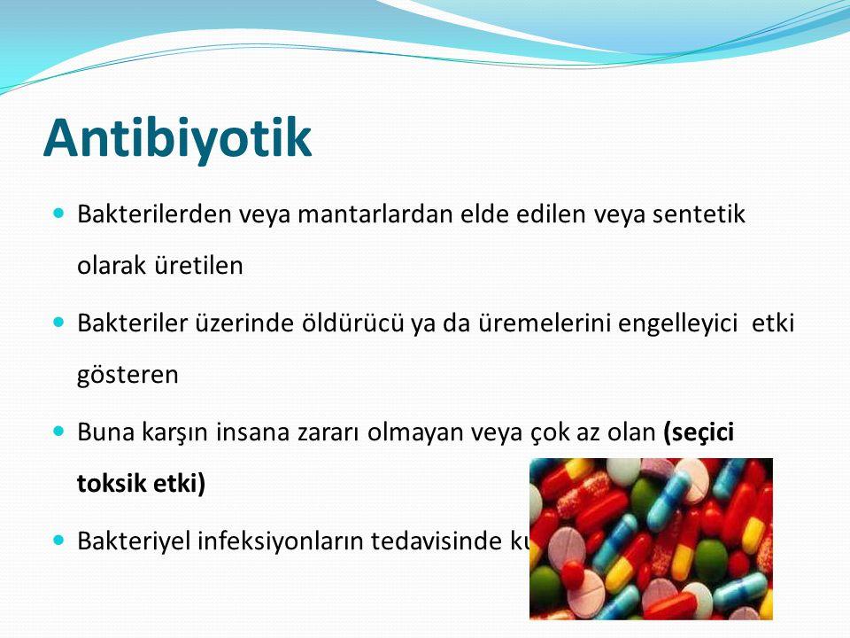 Kemoterapötik Antibiyotiklerle aynı özellikleri gösteren Mikroorganizmalardan elde edilmeyen kimyasal veya sentetik maddelerdir.