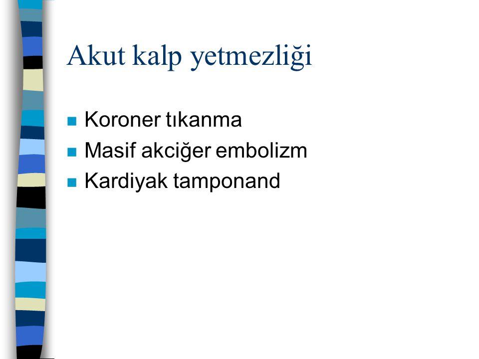 Kronik kalp yetmezliği n Koroner ateroskleroz n Hipertansif kardiyomyopati n Kapak deformiteleri