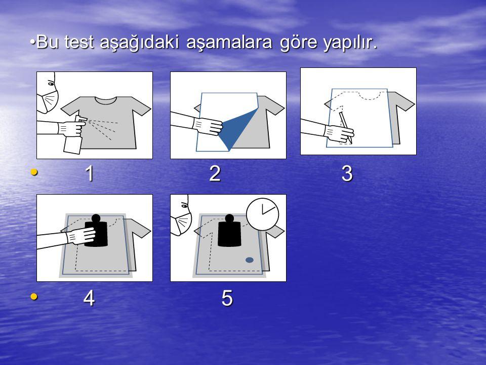Bu test aşağıdaki aşamalara göre yapılır.Bu test aşağıdaki aşamalara göre yapılır.