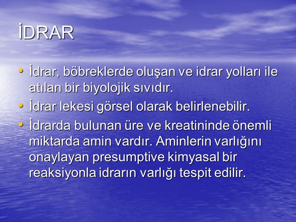 İDRAR İdrar, böbreklerde oluşan ve idrar yolları ile atılan bir biyolojik sıvıdır.
