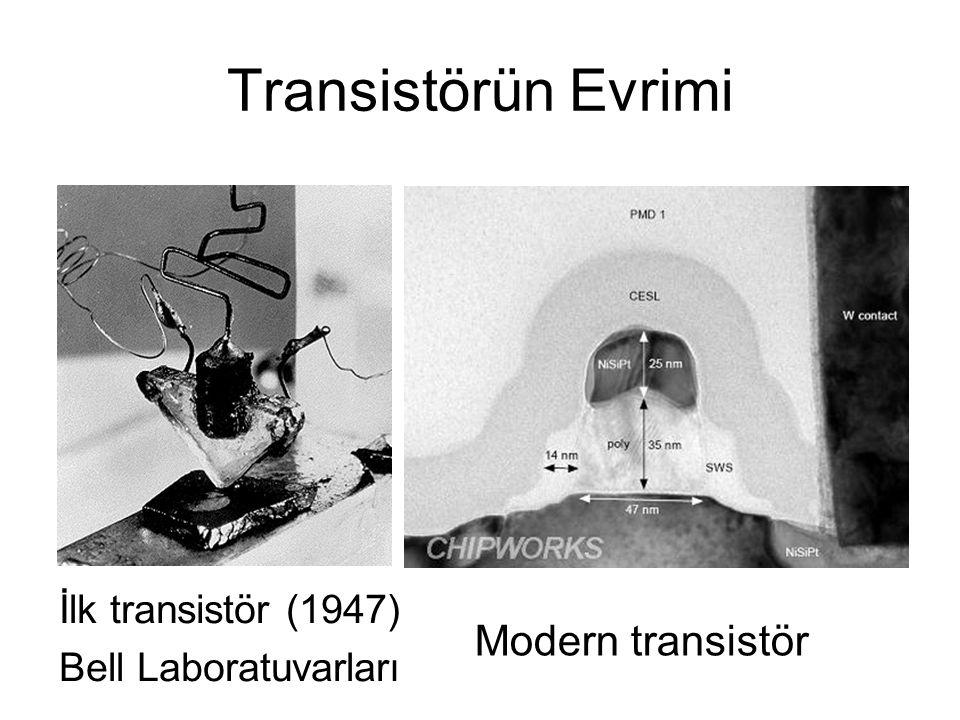 Transistörün Evrimi İlk transistör (1947) Bell Laboratuvarları Modern transistör