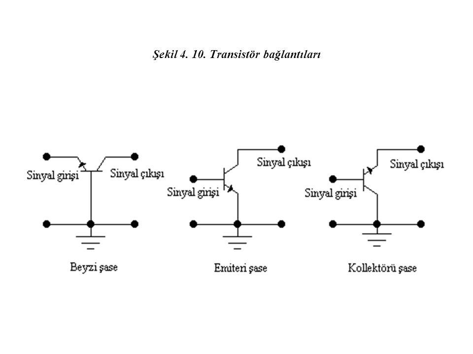 Şekil 4. 10. Transistör bağlantıları