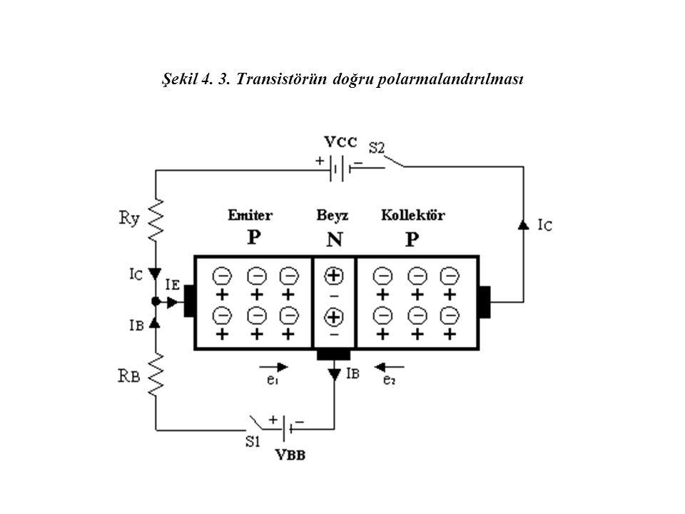 Şekil 4. 3. Transistörün doğru polarmalandırılması