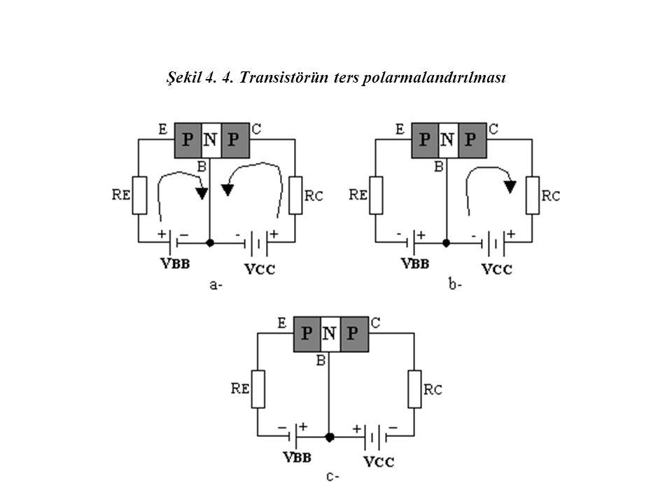 Şekil 4. 4. Transistörün ters polarmalandırılması
