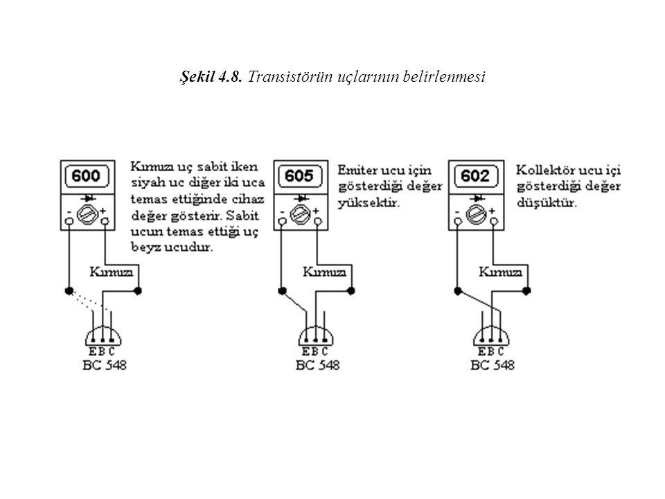 Şekil 4.8. Transistörün uçlarının belirlenmesi