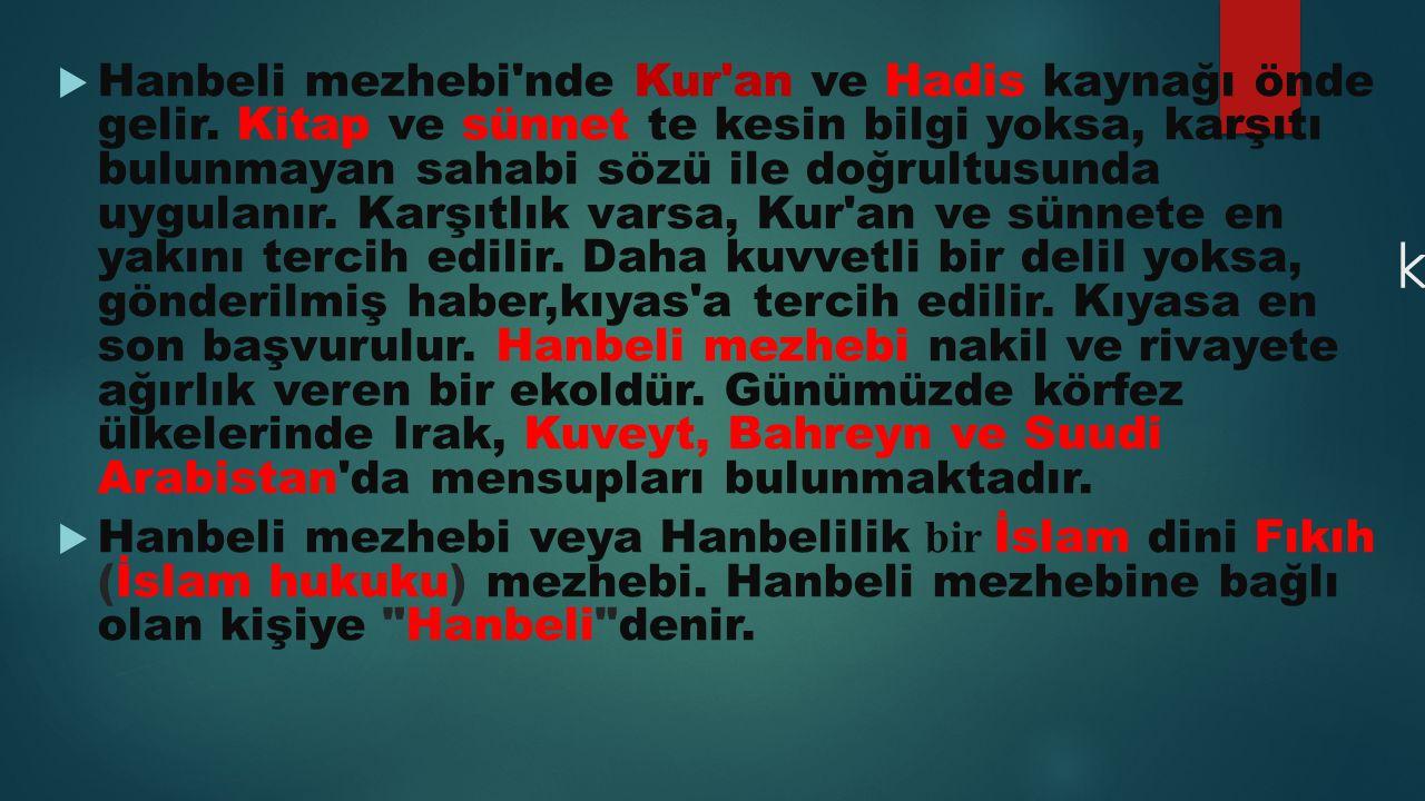 AHMED BİN HANBEL  Ahmed bin Hanbel, (Arapça: أحمد بن حنبل  ) (Doğum.