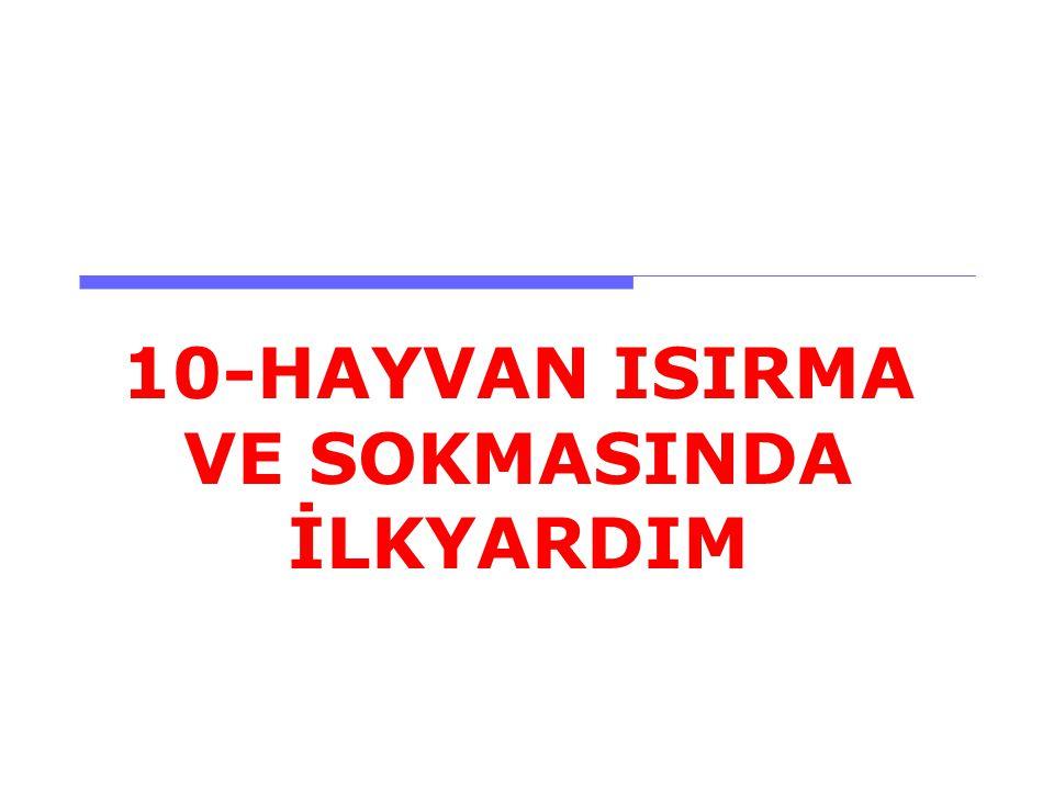 10-HAYVAN ISIRMA VE SOKMASINDA İLKYARDIM