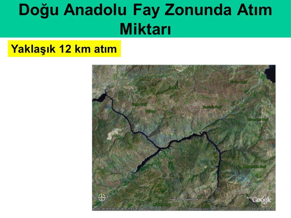 Yaklaşık 12 km atım Doğu Anadolu Fay Zonunda Atım Miktarı