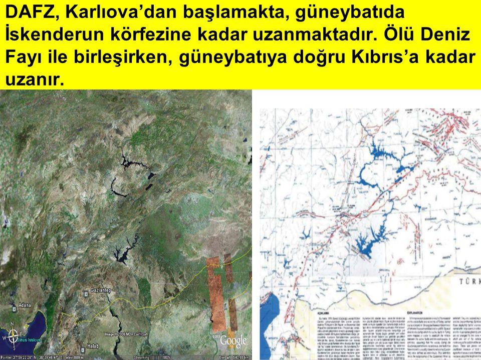 DAFZ, Karlıova'dan başlamakta, güneybatıda İskenderun körfezine kadar uzanmaktadır. Ölü Deniz Fayı ile birleşirken, güneybatıya doğru Kıbrıs'a kadar u