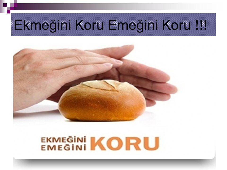 Türkiye'de Toplam Ekmek Üretimi, Tüketimi ve İsrafı (ADETLER 250 GR'LIK STANDART EKMEK ÜZERİNDEN HESAPLANMIŞTIR.) EKMEK ÜRETİMİ: GÜNDE 25 BİN 295 TON (25.295.305 KG), YILDA 9,2 MİLYON TON (9.232.786 TON) EKMEK ÜRETİLMEKTEDİR.