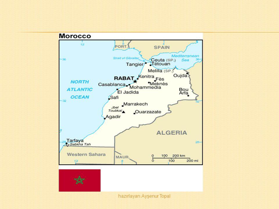  Afrikanın kuzeybatı ucunda yer alır.Avrupa'ya Cebelitarık Boğazı'yla bağlanır.