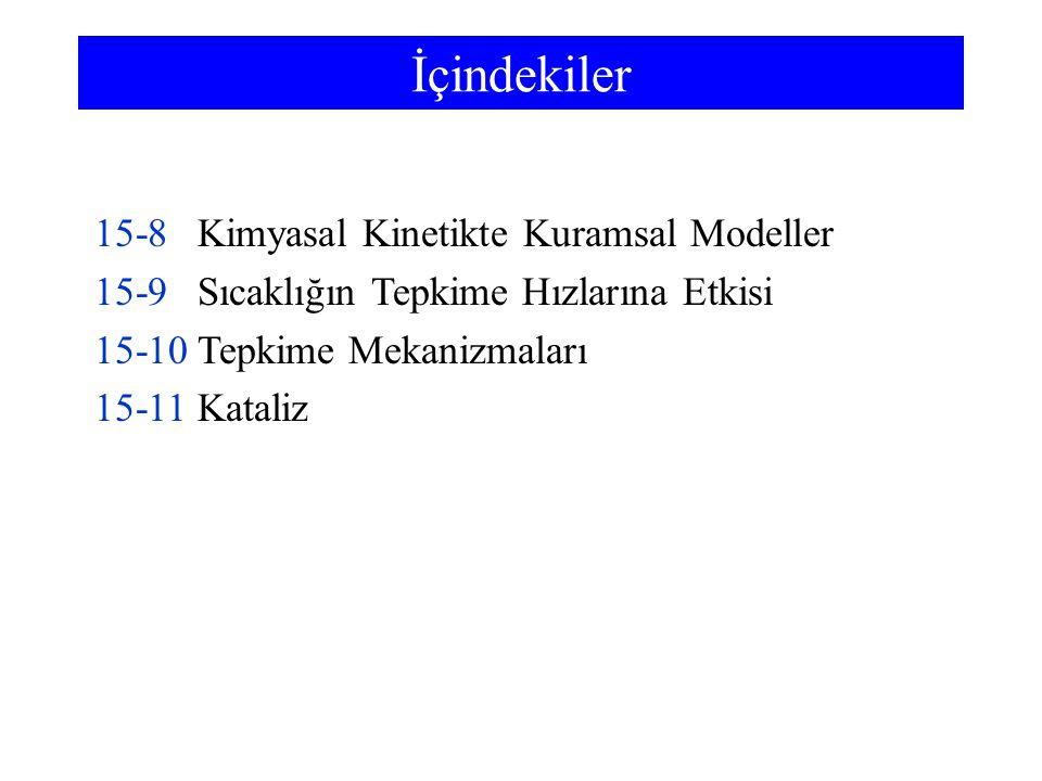 15-1 Kimyasal Tepkimelerin Hızı Tepkime hızı, bir tepken ya da ürünün derişiminin zamana göre nasıl değiştiğini gösterir.