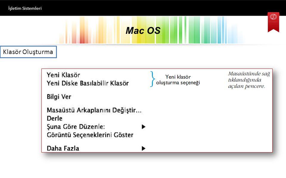 Mac OS İşletim Sistemleri Pencere Açıp-Kapatma, Büyültme-Küçültme Tüm pencereler açık iken, F11 tuşuna basıldığında masaüstü görünür. Tekrar F11'e bas