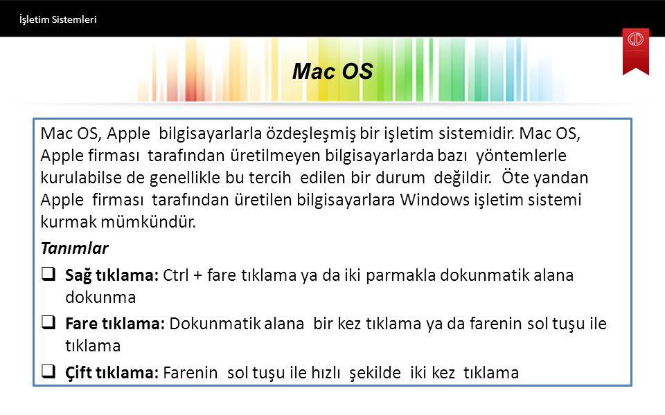 Mac OS Mac OS, Apple bilgisayarlarla özdeşleşmiş bir işletim sistemidir.