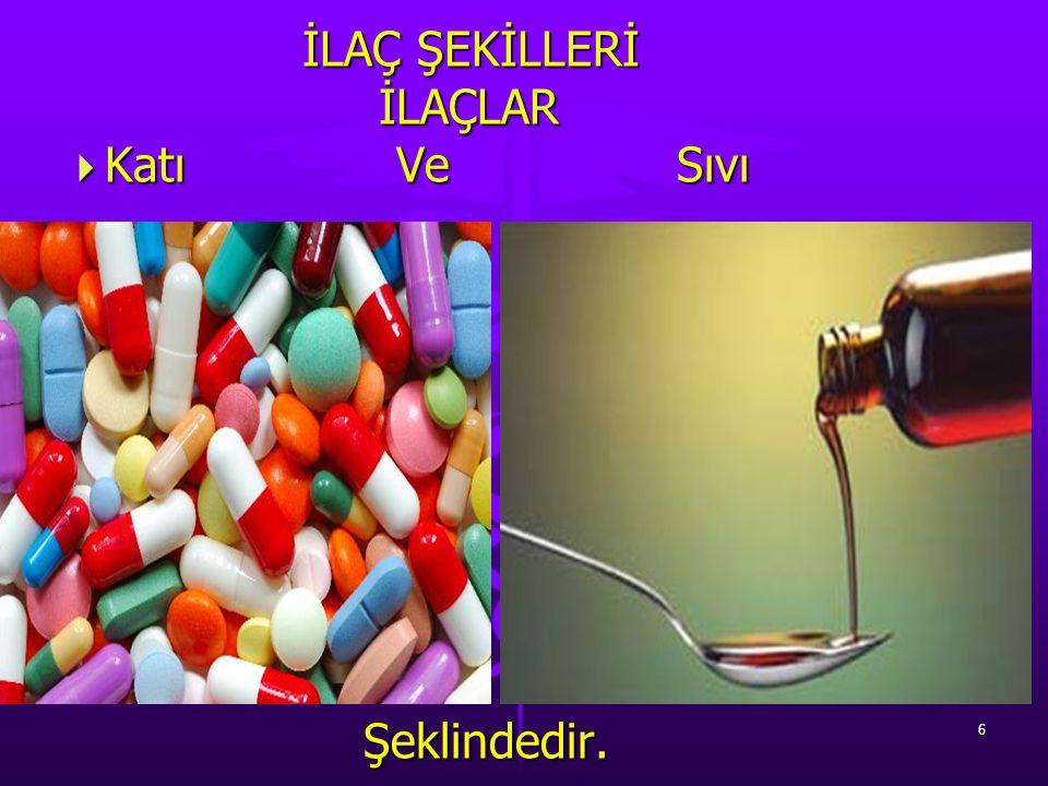 Katı İlaç Şekilleri KAPSÜL: Toz ya da sıvı ilaç maddesinin, Jelatin kılıflar içinde ki halidir.