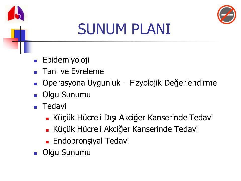 Tanı (3) Santral ve Periferik lezyonlarda ilk adım 3 kez balgam sitolojisi (uygun merkezlerde) olabilir.