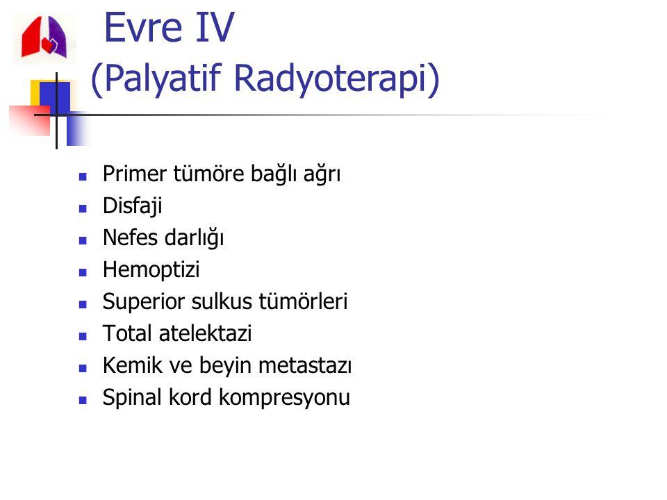 Primer tümöre bağlı ağrı Disfaji Nefes darlığı Hemoptizi Superior sulkus tümörleri Total atelektazi Kemik ve beyin metastazı Spinal kord kompresyonu E