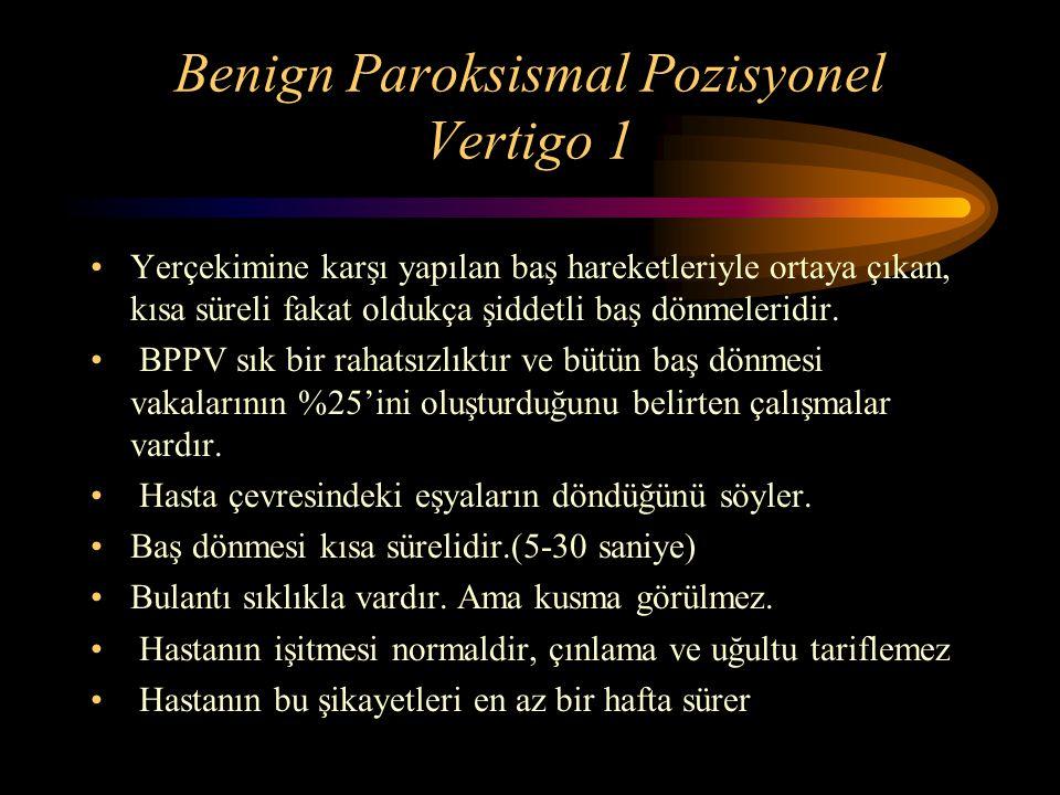 BPPV – Singüler nörektomi Singüler sinir inferior vestibüler sinirin PSCC'nin ampullasına giden liflerden oluşur.