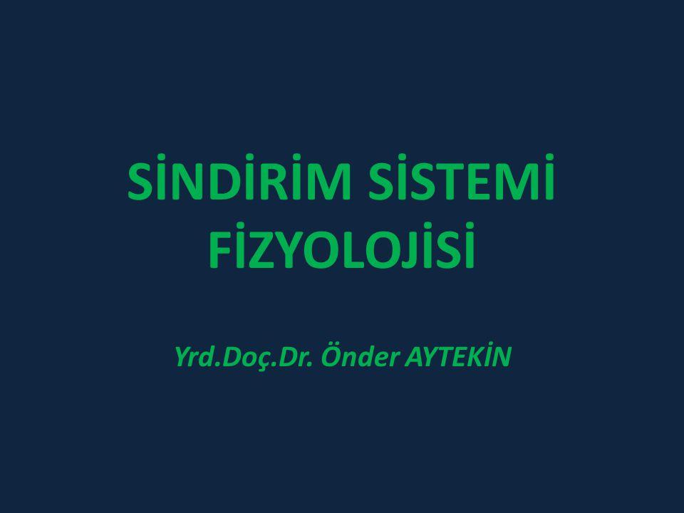SİNDİRİM SİSTEMİ FİZYOLOJİSİ Yrd.Doç.Dr. Önder AYTEKİN