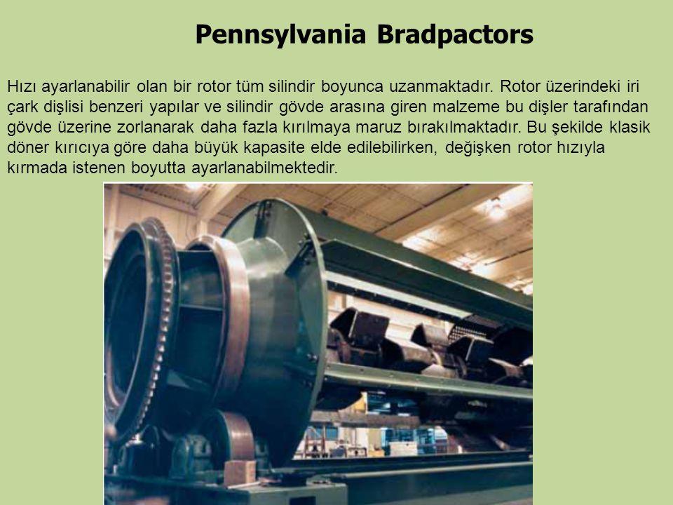 Hızı ayarlanabilir olan bir rotor tüm silindir boyunca uzanmaktadır. Rotor üzerindeki iri çark dişlisi benzeri yapılar ve silindir gövde arasına giren