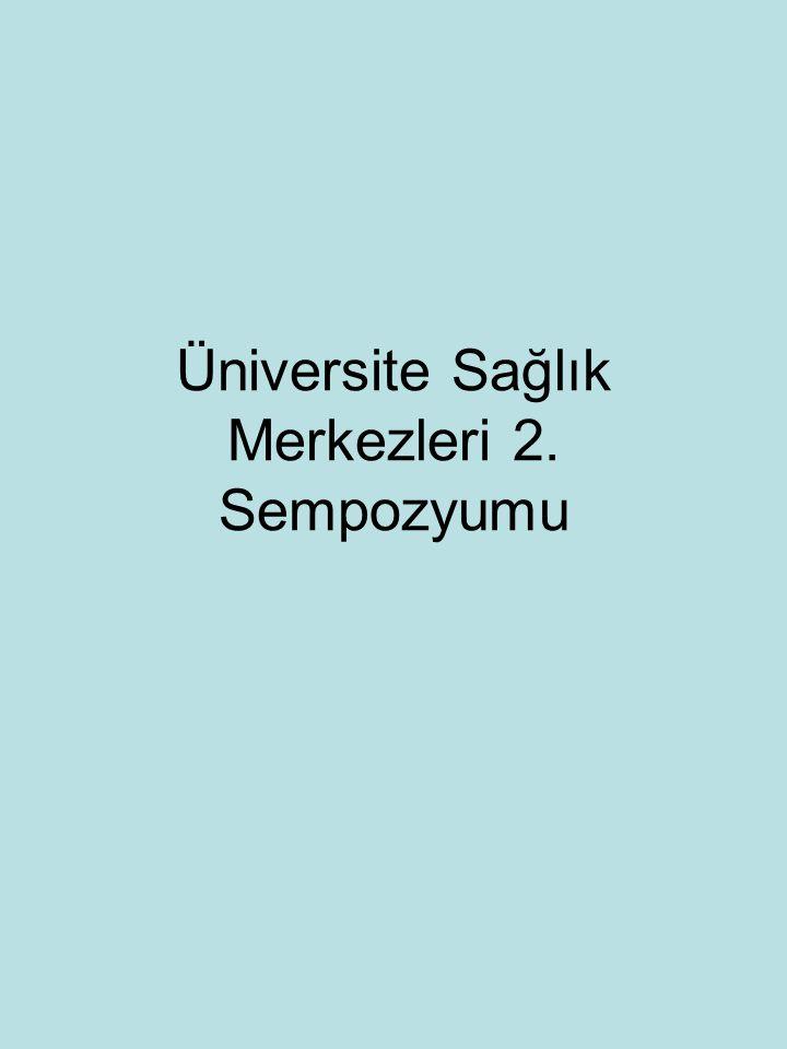 Üniversite Sağlık Merkezleri 2. Sempozyumu