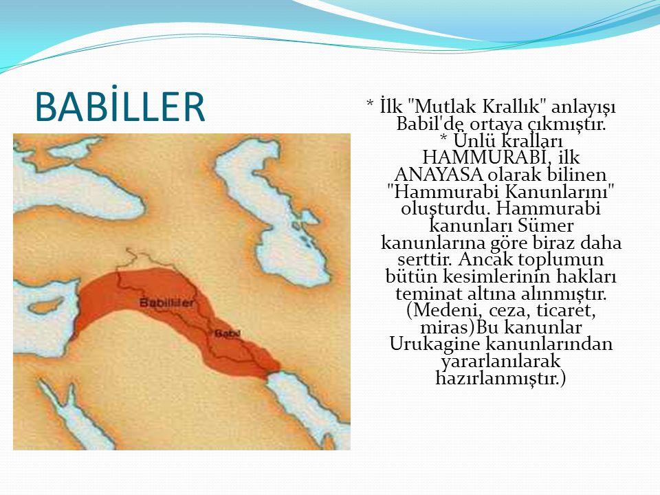 BABİLLER * İlk