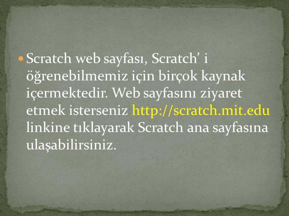 Scratch projeleri karakterler olarak adlandırılan objelerden oluşur.