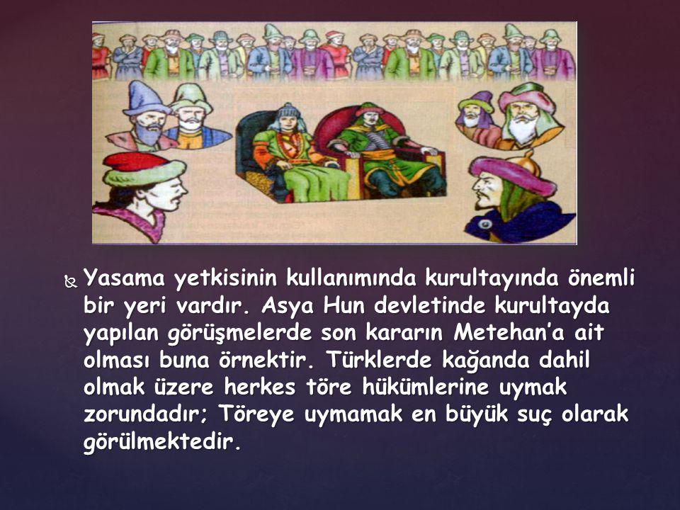  Türk tarihinde kurulan bütün Türk Devletlerinin temel felsefesi Tanrı buyruğuna göre tebaanın adaletli bir şekilde idare edilmesine dayanıyordu.
