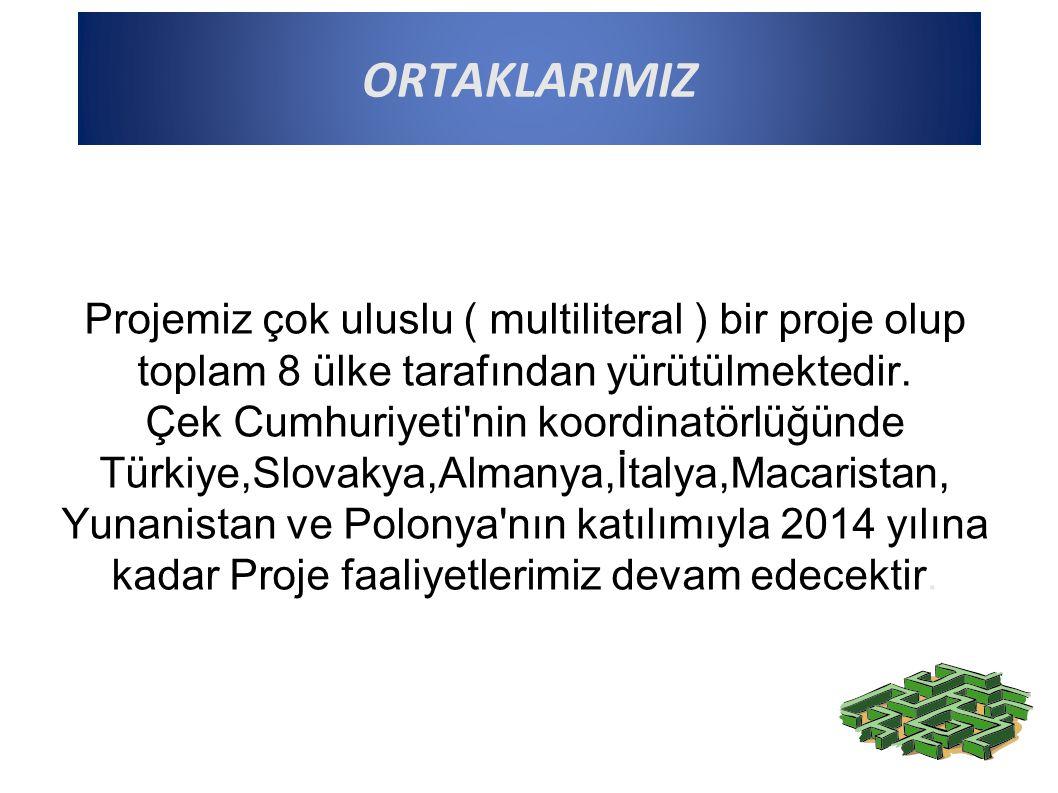 Projemiz çok uluslu ( multiliteral ) bir proje olup toplam 8 ülke tarafından yürütülmektedir.