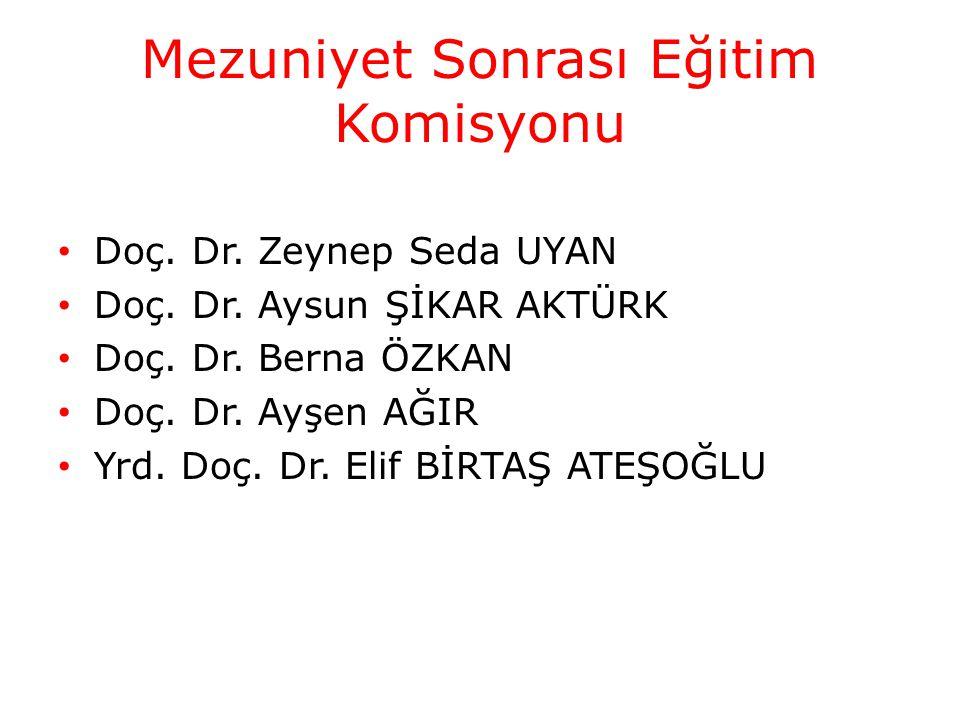 Mezuniyet Sonrası Eğitim Komisyonu Doç. Dr. Zeynep Seda UYAN Doç.