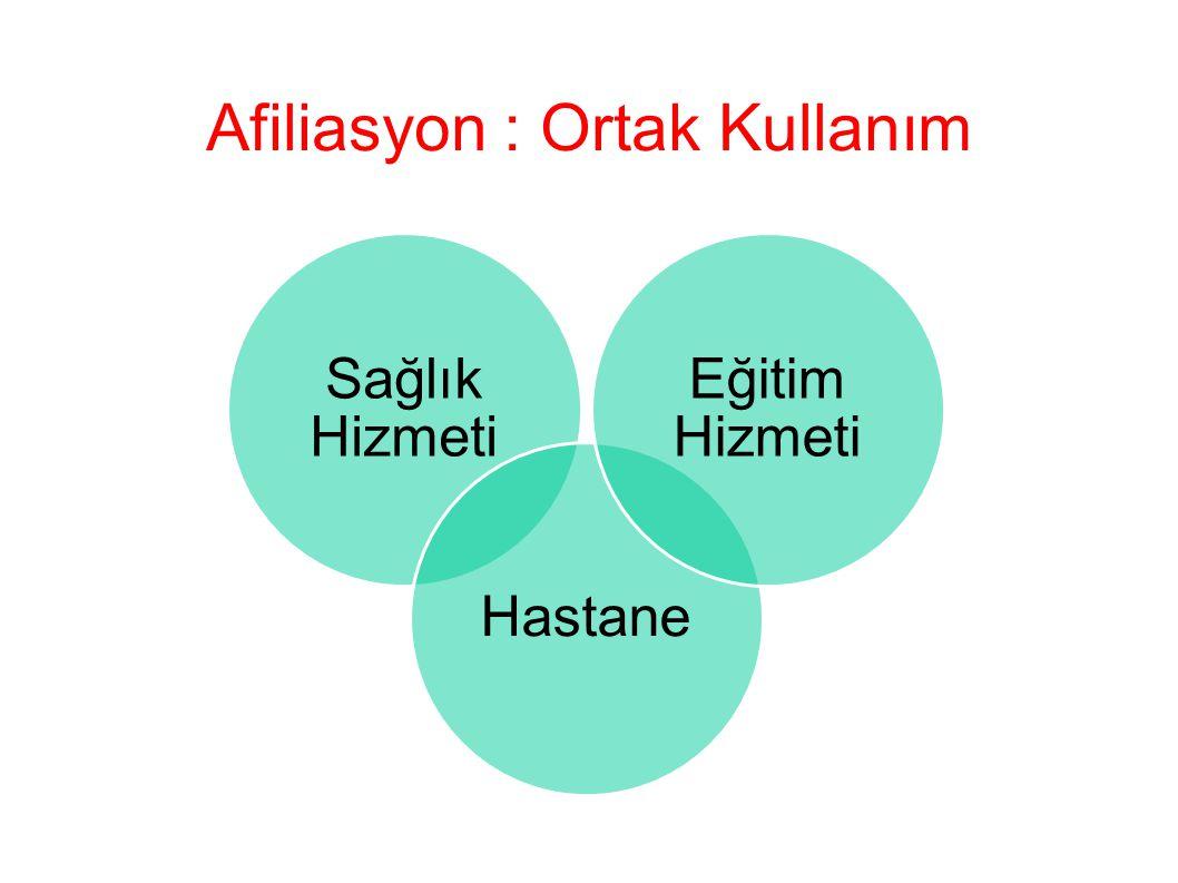 Ortak Kullanım (Afiliasyon); Sağlıkta insan gücünü DENGELİ VERİMLİ kullanmak…