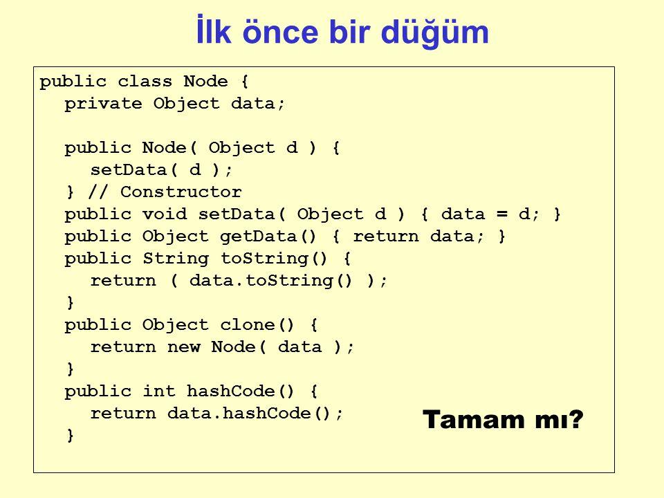 Bağlı liste örneği Pseudocode: LL_Node isoftype record data isoftype next isoftype Ptr toa LL_Node endrecord // LL_Node data next